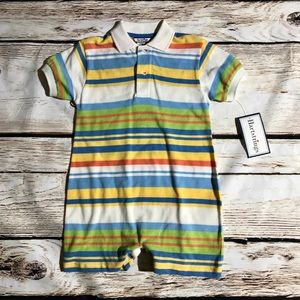 Hartstrings knit Polo style romper NWT 24 mos